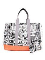 DVF Diane Von Furstenberg Loves Roxy Orange Black White Shoulder Tote Bag