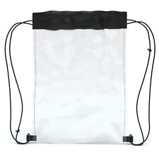 EAZY CASE Turnbeutel Festival Bag Durchsichtig Rucksack Sport Tasche Hipster Bag