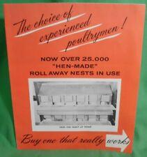 Vintage Sales Folder Chicken Hen Made Nest Box Industrial Galvanized Metal