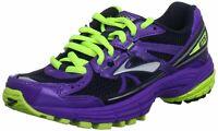 Brooks Adrenaline GTS 13 - Kid's Running Shoe - Neon Green/Purple  - Mult. Sizes