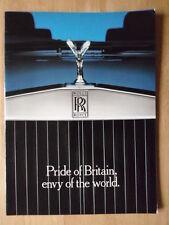 ROLLS ROYCE prestigio grande publicidad folleto c1986 - Orgullo de Gran bretaña