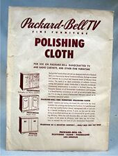 New listing Vintage Packard-Bell Tv Polishing Cloth with Original Packaging