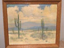 Vintage High Desert Painting Signed  - George S. Bickerstaff