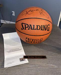 KOBE BRYANT Signed Spalding Basketball Upper Deck Auto AUTOGRAPHED UDA COA STERN