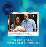 St. Vincent 2013 - SC# 3884 - Birth of HRH Prince George - Souvenir Sheet - MNH