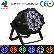 LED PAR Light 18x18W RGBWA UV 6in1 DMX512 Stage Light DJ Bar Home Party 1pcs