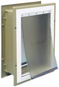 Petsafe Wall Entry Aluminum Pet Door - MEDIUM - For Dogs up to 40 lb