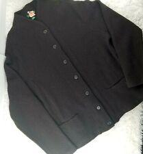 Ralph Lauren black bauble knit 100% lambswool cardigan PLUS SIZE 2X v-neck (D)