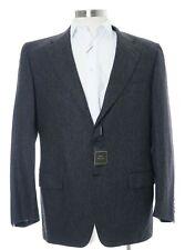 $2K Sartoria Partenopea Italy 44R 100% Wool Gray 3 Button Canvassed Mens Blazer