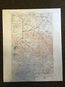 Vintage USGS Chehalis Washington 1916 Topographic Map 1950 3