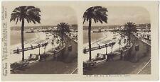 Nice Promenade des Anglais Photo Stereo Stereoview Papier Argentique Vintage