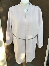 New $159 Chico's Plush Zip Detail Topper Jacket Soft Orchid 2 L Large 12 14 NWT