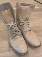 WOMENS BRUNELLO CUCINELLI PATENT LEATHER BOOTS SIZE 37