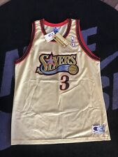 1996 Allen Iverson Champion Gold Jersey Rookie Of The Year New With Tags XL