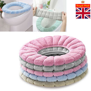 Thickened Closestool Toilet Seat Pad Mat Bathroom Warmer Washable Padded Cover L