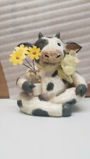 Home Trends Holstein Cow With Sunflower