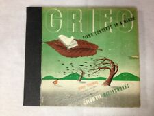 "Walter Gieseking ""Grieg, Piano Concerto In A Minor""1940s Columbia 12"" 78 Box Set"