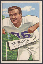1952 BOWMAN LARGE #23 GINO MARCHETTI PACK FRESH HALL OF FAME ROOKIE CARD COLTS