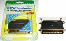 Gold Centronics 50pin/wire,Male~Female Active + LED Terminator SCSI HD/Scanner