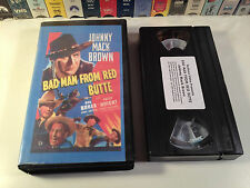 Bad Man From Red Butte Rare Western VHS 1940 OOP Johnny Mack Brown Fuzzy Knight