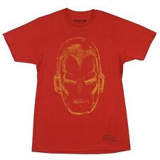 Iron Man Face Distressed Marvel Comics Licensed Adult T-Shirt