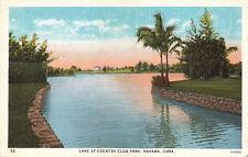 Postcard Lake at Country Park Havana Cuba