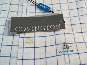 NWT COVINGTON CLASSIC FIT RING FREE WRINKLE FREE DRESS SHIRT,Lemon Meringue Pld