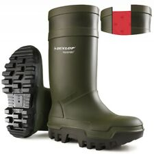 Dunlop Green Purofort Thermo Plus Full Safety Wellies, Size 5-13, C662933