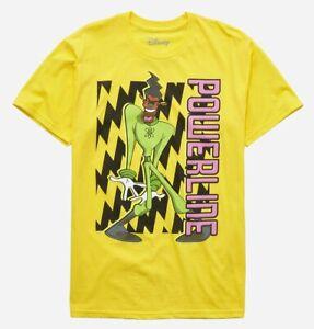 Disney A Goofy Movie Powerline Static Tee Shirt New