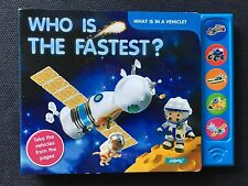 "NEW ""Who Is The Fastest"" Sound Children's Book ""Press and Listen"""