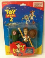 """RARE 1999 TOY STORY 2 """"FIGHTER WOODY"""" WITH PUNCHING ACTION - THINKWAY - MOC"""