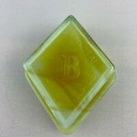 Boyd Art Glass Diamond Logo Paperweight / Sample - Candy Swirl