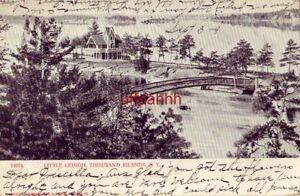 pre-1907 LITTLE LEHIGH, THOUSAND ISLANDS, NY. 1906