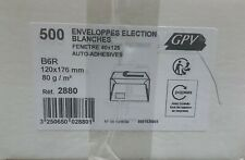 [Ref:2880] GPV Boîte de 500 enveloppes blanches B6R 120x176 80 g/m² fenêtre 4
