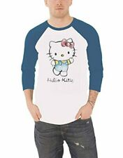 Hello Kitty Official Unisex Long Sleeved Baseball Top Shirt Sweater  White