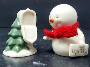 Snowpinions Department 56 / Set of 2 Mailbox Salt & Snowman Pepper t #4039829