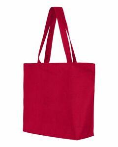 """Q-Tees 25Lt Zippered Tote Shopping Beach Bag Q611 20""""W x 15""""H x 5""""D"""