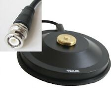 "Black Mobile Base Antenna NMO Magnet Mount 5 1/2"" Rubber Boot BNC Tram 1267RBNC"