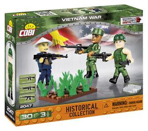Cobi 2047 (30pcs) 3 x Vietnam War Soldier Figures with Accessories