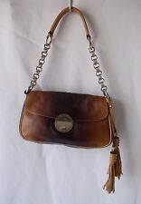 PRADA Milano Tan Brown Fume Leather Small Shoulder Bag Handbag