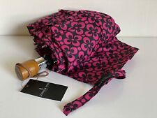 NEW! LONDON FOG BLACK RED PINK FOLDABLE AUTOMATIC OPEN CLOSE UMBRELLA
