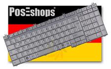 Orig. QWERTZ Tastatur für Toshiba Satellite L555 L550 L505 L500 DE silber Neu!