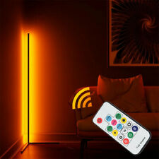 LED Metal Floor Lamp RGB Color Changing Remote Standing Light Living Room A
