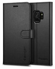 Galaxy S9 Case, Spigen Wallet S Cover - Black