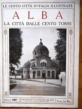 1920 Le  Cento città d'Italia illustrate Alba la città dalle  cento torri