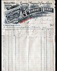 """SAINT-AMAND-MONTROND (18) EPICERIE MERCERIE """"CAUMONT & DEMAY / FAUQUET"""" 1900"""