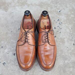 Allen Edmonds NORSE Whiskey Tan Leather Split-Toe Derby sz 11 D MENS US