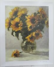 Yellow Sunflowers Sun Sprites Nancy Carrol Limited Edition Litho 135/400