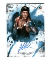 WWE Chad Gable 2018 Topps Undisputed Blue On Card Autograph SN 4 of 25
