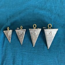 40 Pyramid Fishing Weights - Sinkers 1-2-3-4oz (10 of each) - FREE SHIPPING